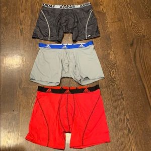 Adidas new Climalite set of 3men's boxers briefs